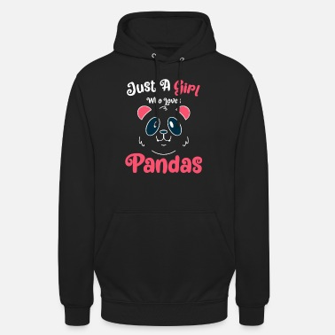 Just A Girl Who Loves Pandas - Panda Gift - Sudadera con capucha unisex