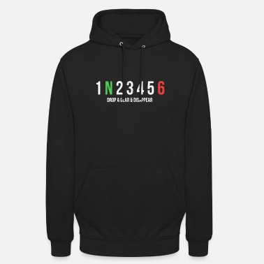 Gear Motorcycle Gears Drop A Gear And Disappear Print - Unisex Hoodie