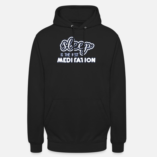 Méditation Sweat-shirts - méditation - Sweat à capuche unisexe noir