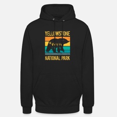 America Yellowstone National Park vintage bear - Unisex Hoodie