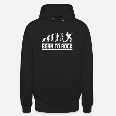 Evolution born to rock - Unisex Hoodie