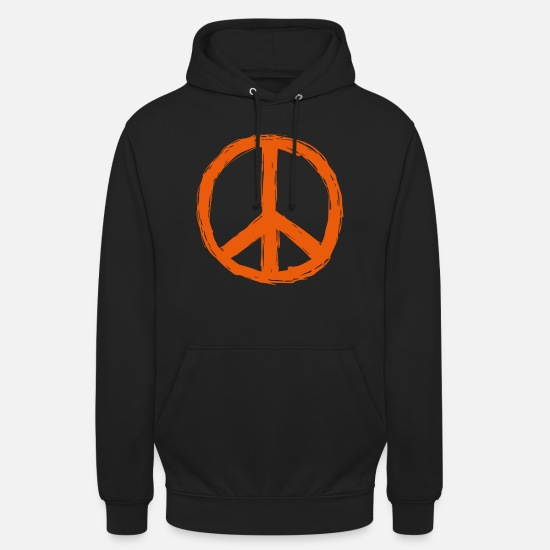 Love Hoodies & Sweatshirts - Peace World Peace Flower Power Gift 70s Love - Unisex Hoodie black