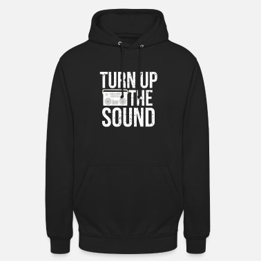 Charts Turn Up Sound I Musiikki Radio Beat Charts DJ Disco - Unisex huppari