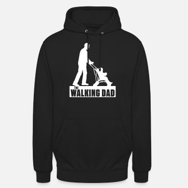 Walking Dad - Far, Barn, Familie, Sjov, Gave - Unisex hættetrøje