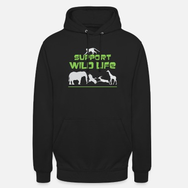Wild Animal Parks Cute Support Wild Life for Wild Animal Lovers - Unisex Hoodie