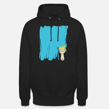 Paint Painter and paintbrush brush gift craft cool - Unisex Hoodie