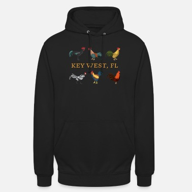 Key Key West FL Chickens and Roosters - Unisex Hoodie