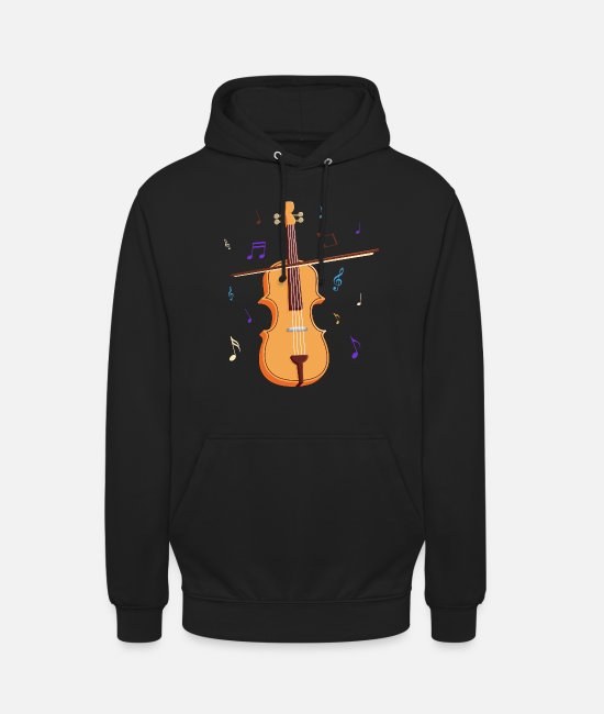 Violin Hoodies & Sweatshirts - Violin fiddle fiddle musician gift music - Unisex Hoodie black