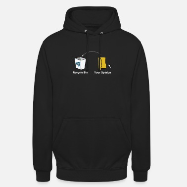 Mothers Day Trash PC Computer Gift Idea Opinion garbage - Unisex Hoodie