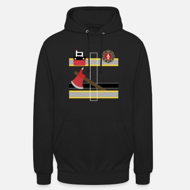 Bunker Year T Firefighter Uniform print, Bunker Gear graphic, - Unisex Hoodie
