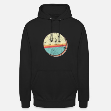Circle Vintage Eighties Style T-Shirt - Retro - Unisex Hoodie