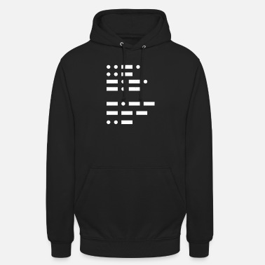 Off Fuck you in morse code funny dots and dashes - Unisex Hoodie