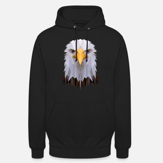 Usa Hoodies & Sweatshirts - Bald eagle polygon design - Unisex Hoodie black