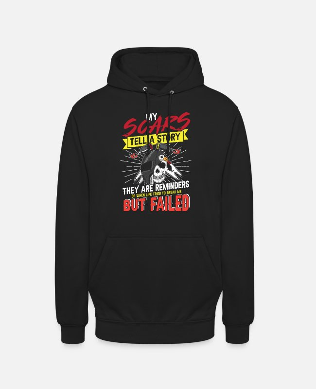 Welder Hoodies & Sweatshirts - My scars tell a story Welder - Unisex Hoodie black