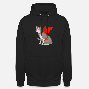 Idée cadeau diable de chats Halloween kawaii - Sweat à capuche unisexe