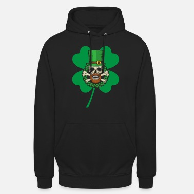 Pretty Patrick's Day Skull Green - Unisex Hoodie