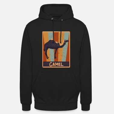 70s 80s Vintage Camels Dromedary Retro Gift Camel - Hoodie unisex