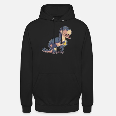 Dino Funny T-Rex Dino Beer Drinking Baptism Malle - Unisex Hoodie