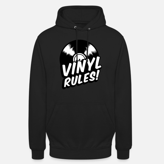 Raver Hoodies & Sweatshirts - Vinyl rules - CD - recordings-music-retro - Unisex Hoodie black