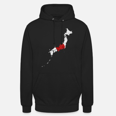 Home Country Japan flag outline polygon Nihon Japanese - Unisex Hoodie