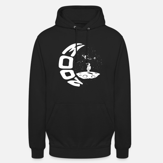 Lantern Hoodies & Sweatshirts - Moon Graphic - Unisex Hoodie black