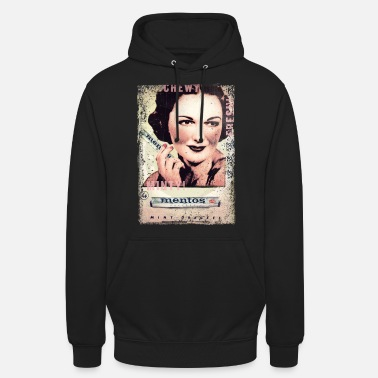 Mentos Chewy Minty Fresh Woman Vintage - Unisex Hoodie