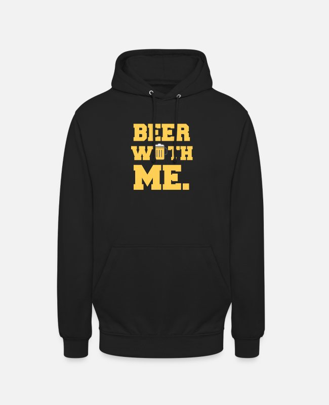 English Hoodies & Sweatshirts - Beer alcohol booze saying bar pub party celebrate - Unisex Hoodie black
