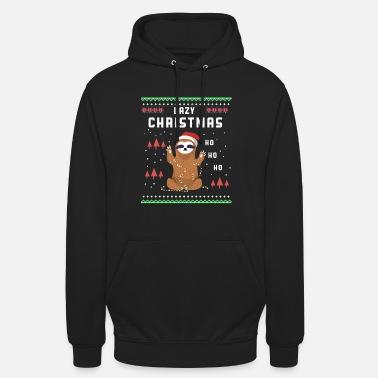 Ugly Christmas Lazy Christmas / Sloth / Gift - Unisex Hoodie