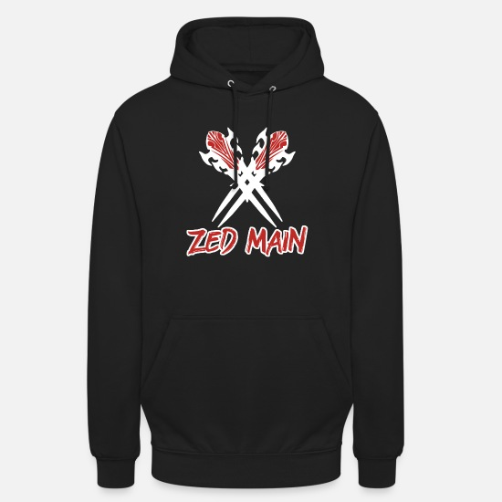 Gift Idea Hoodies & Sweatshirts - Zed Main League LoL gamer - Unisex Hoodie black