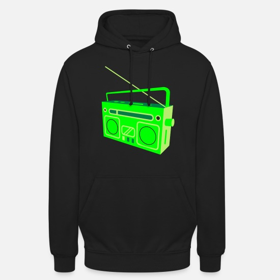 Breakdance Sweat-shirts - Enregistreur de cassette - Sweat à capuche unisexe noir