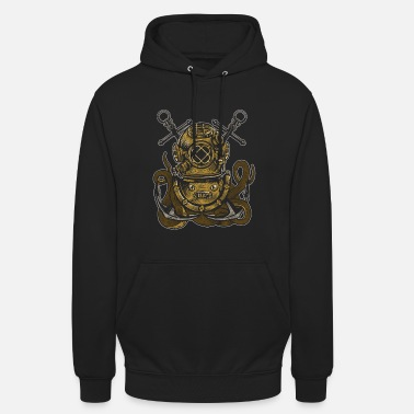Bell Diver Octopus deep sea diving bell anchor graphic - Unisex Hoodie