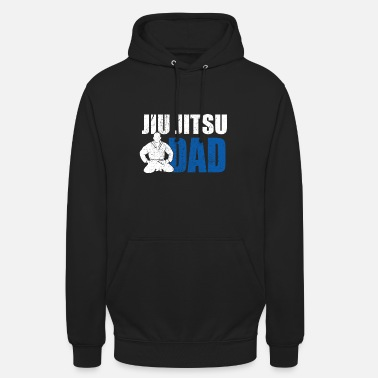 Judo Proud Dad Of A Jiu Jitsu Fighter Bjj Father Gift - Unisex Hoodie