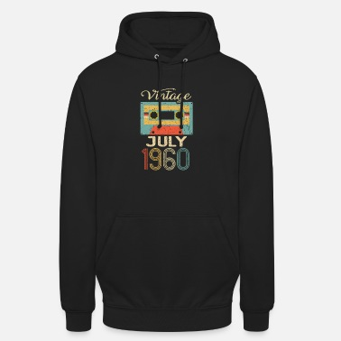 Year Of Birth Vintage July 1960 60th Birthday 60 Year Gift - Unisex Hoodie