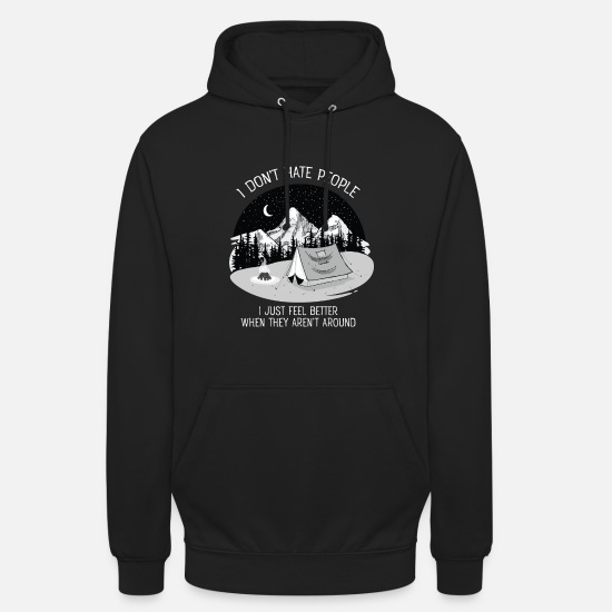 Mensen Sweaters & hoodies - I Don't Hate People...Mountains, Camping, Campfire - Unisex hoodie zwart