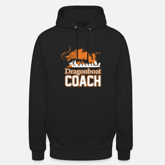 Coach Sweat-shirts - Dragon Boat Coach - Sweat à capuche unisexe noir