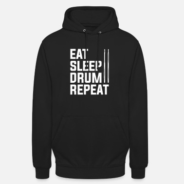 Sleep Repetition of the sleeping drum - Unisex Hoodie