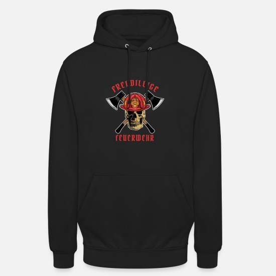 Fire Hoodies & Sweatshirts - fire Department - Unisex Hoodie black