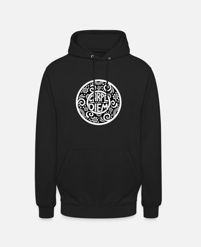 Motivation Pullover & Hoodies - Carpe Diem - Unisex Hoodie Schwarz