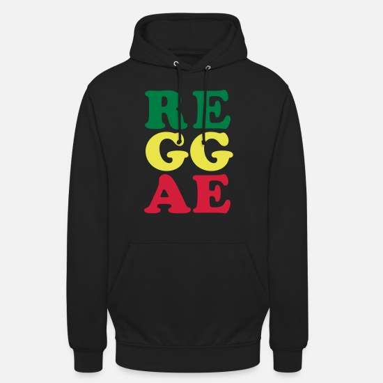 Reggaeton Sweat-shirts - reggae - Sweat à capuche unisexe noir