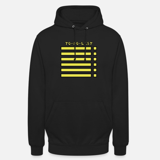 Zeit Pullover & Hoodies - To-Do-List - Unisex Hoodie Schwarz