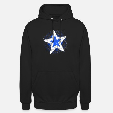 Big Stars Big Star (White / Blue) - Unisex Hoodie