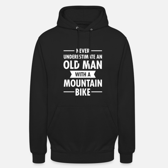 Man Hoodies & Sweatshirts - Old Man - Mountain Bike - Unisex Hoodie black