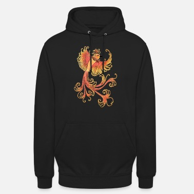 Painted Firebird, hand painted - Unisex Hoodie