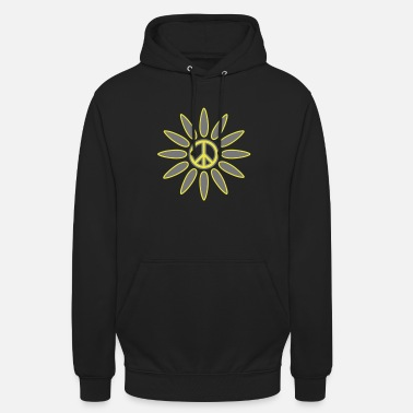 Pop PeaceFlower2 - Sweat à capuche unisexe