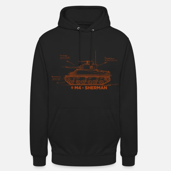 World Of Sweaters & hoodies - World of Tanks M4 Sherman - Unisex hoodie zwart