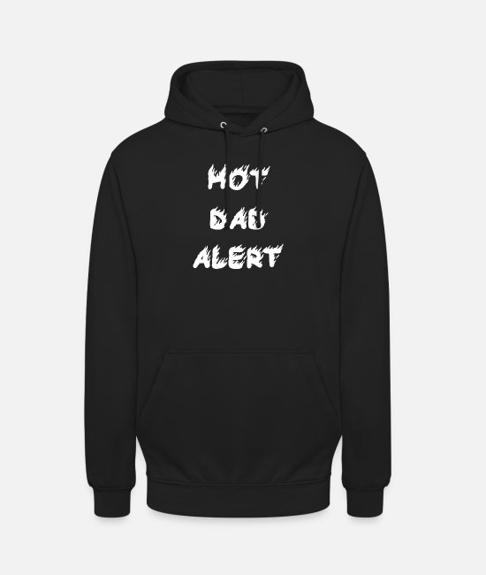 Father And Son Hoodies & Sweatshirts - Hot Father Alert Father's Day Gift Idea - Unisex Hoodie black