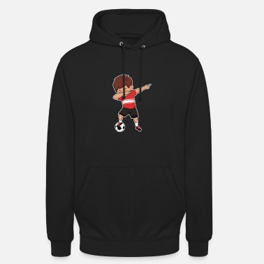 Soccer Player Dabbing Soccer Player Red Soccer Sports Team - Unisex Hoodie