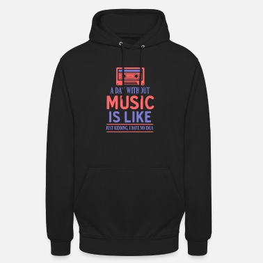 Rock N Roll Music Like Retro Cassette - Unisex Hoodie