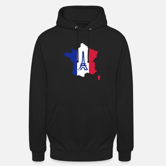 Tour Eiffel Sweat-shirts - France - Sweat à capuche unisexe noir