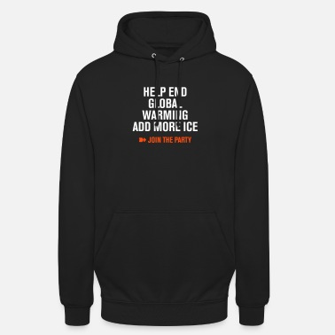 Global Stop Global Warming partito di cocktail cambiamenti climatici Eco - Hoodie unisex